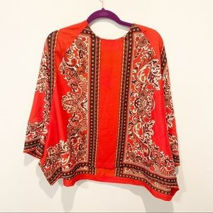 NWT Gracia Paisley Flowy  Blouse Top
